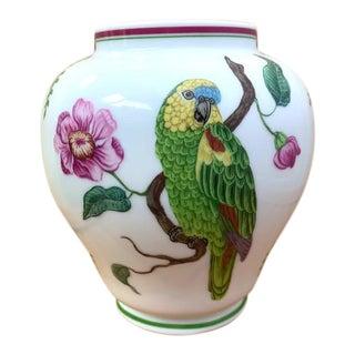 Lynn Chase Parrots Ginger Jar Vasr For Sale