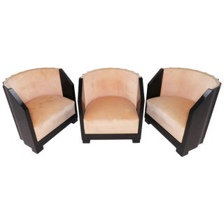 "Set of Three ""Pozzetto"" Art Deco Lounge Chairs, Circa 1920s For Sale"