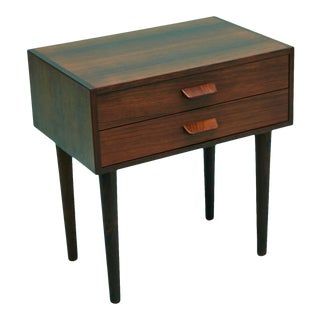 1960s Poul Volther Rosewood Bedside Cabinet For Sale