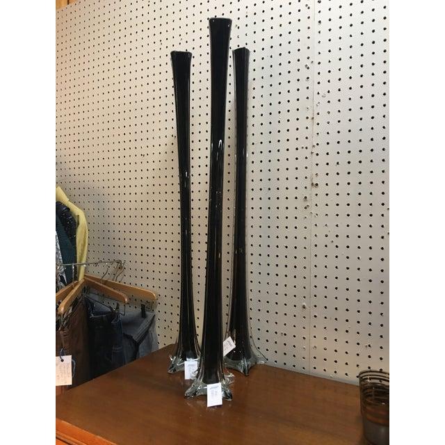 Modern Black Vases - Set of 3 - Image 5 of 5