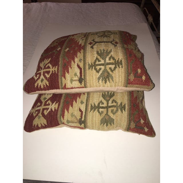 Vintage Kilim Pillows - A Pair For Sale In Tampa - Image 6 of 7