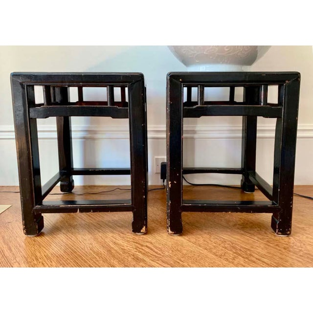 Mid 19th Century Antique 19th Century Chinese Stools- a Pair For Sale - Image 5 of 5
