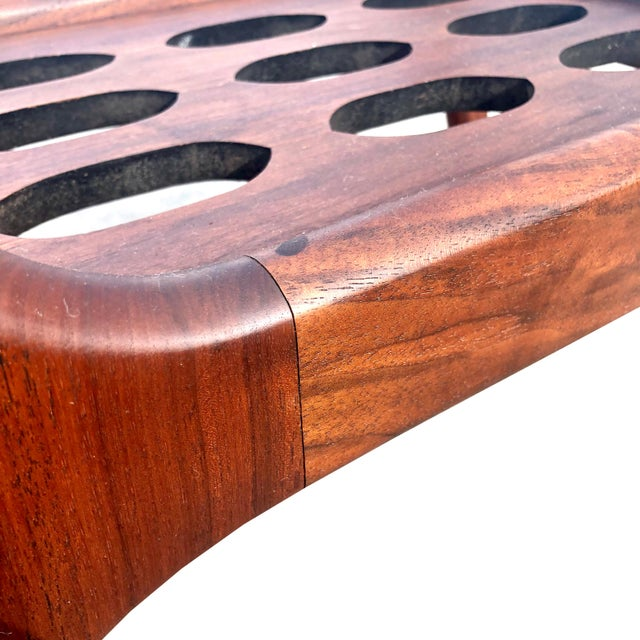 1960s Scandinavian Modern Teak Glass Top Accent Table For Sale - Image 4 of 6