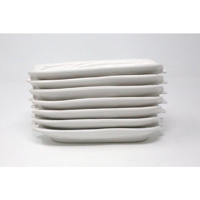 Ceramic White Ceramic Corn on the Cob Holders - Set of 7 For Sale - Image 7 of 9
