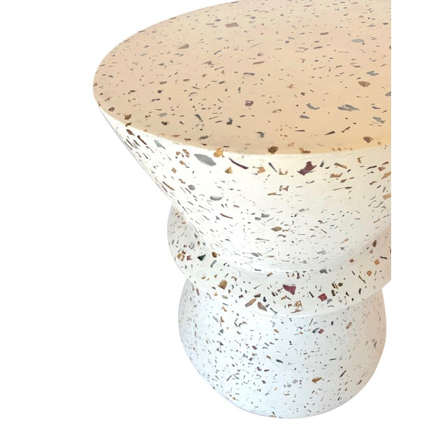 Boho Chic Terrazzo End Table For Sale - Image 4 of 6