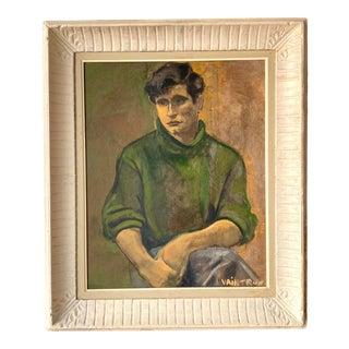 Vintage Oil Portrait Signed Vaintrue For Sale