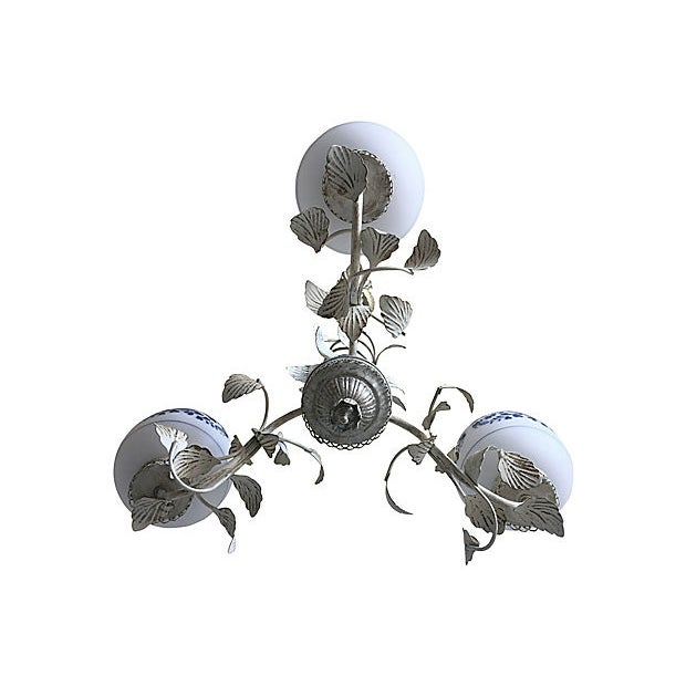 Mid Century Floral Chandelier For Sale - Image 9 of 9