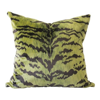 Modern Le Tigre Silk Velvet Pillow For Sale