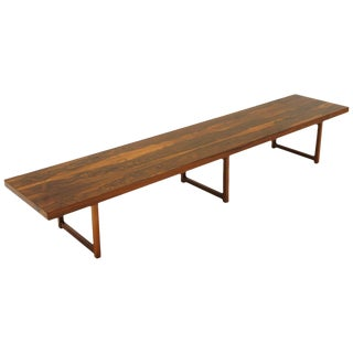 Rosewood Bench or Coffee Table by Milo Baughman For Sale