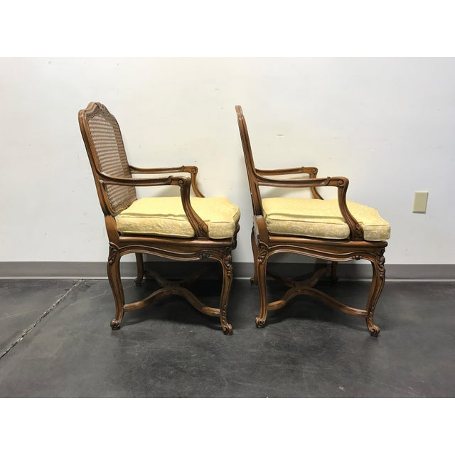 Carved French Style Open Armchairs with Cane Backs - A Pair - Image 8 of 11