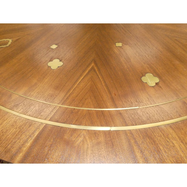 Mid-Century Modern 1960s Mid-Century Modern Bert England for Johnson Furniture Brass Inlaid Round Coffee Table For Sale - Image 3 of 10