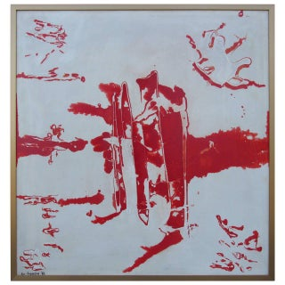Eve Garrison Abstract Painting 1962 For Sale