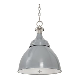 Ann Morris Lighting Rover Pendent in Grey and Polished Nickel For Sale