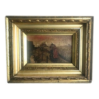 19th Century Original Oil Painting on Board - Framed For Sale