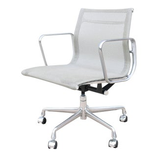 1958 Mid-Century Modern Herman Miller Eames Aluminum Group Management Office Chair For Sale