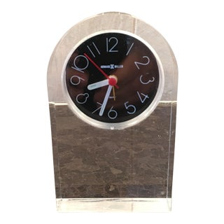 Howard Miller Lucite Desk Clock