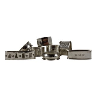 Sterling Silver Antique Napkin Rings - Set of 8