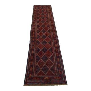 Afghan Tribal Mushwani Kilim Rug - 2′5″ × 11′10″