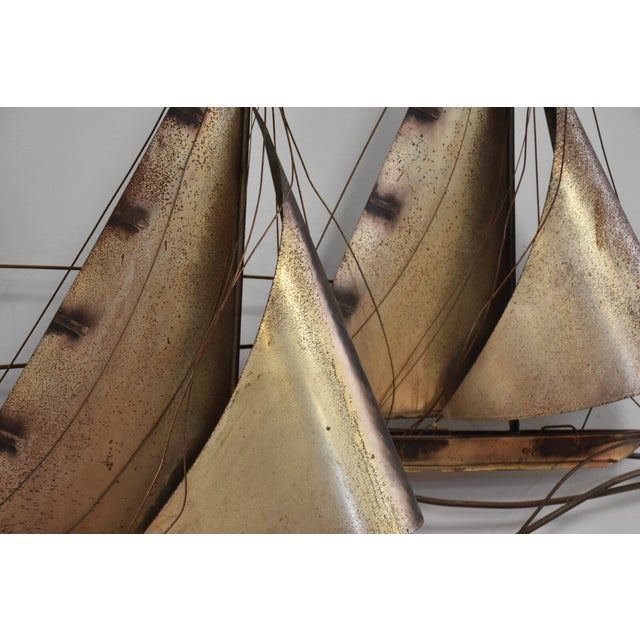 Curtis Jere Sailboat Wall Hanging Sculpture For Sale In Boston - Image 6 of 11