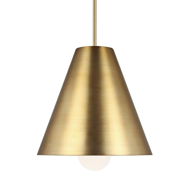 Mid-Century Modern Joni Pendant LED Aged Brass For Sale - Image 3 of 3