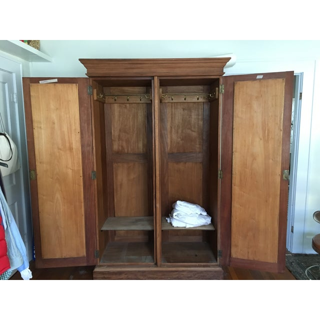 Solid Wood Armoire With Antiques Mirrors - Image 5 of 5