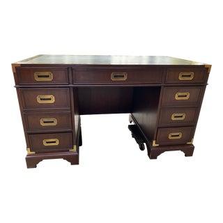 1970s Campaign Hekman Partners Desk For Sale