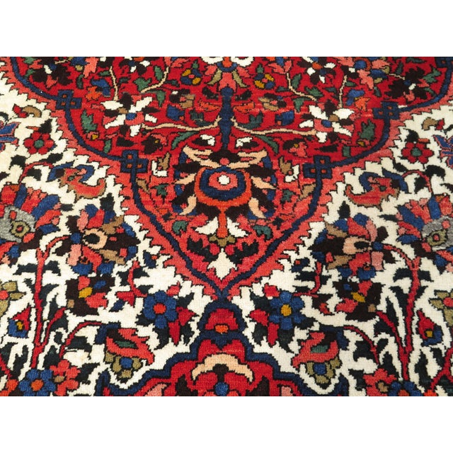 Textile Vintage Hamadan Style Rug- 8′7″ × 12′2″ For Sale - Image 7 of 11