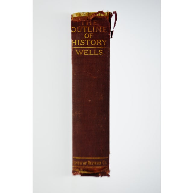 Vintage 1921 The Outline of History by H. G. Wells Illustrated Hardcover Book Condition consistent with age and history....
