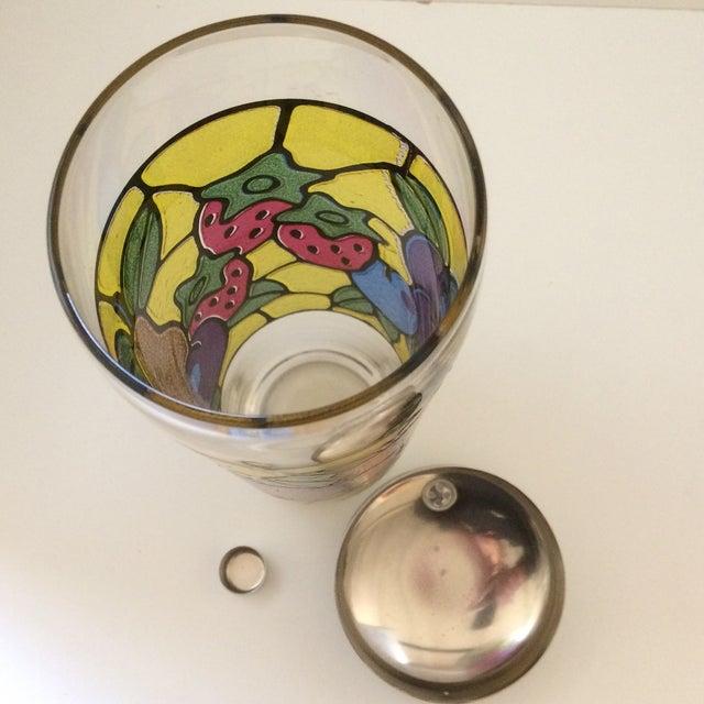 Vintage Mosaic 24 Oz. Fruit Pattern Cocktail Shaker For Sale - Image 5 of 11