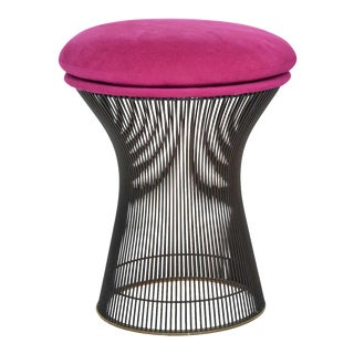 Single Warren Platner Bronze Stool For Sale