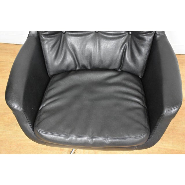 Chrome Black & Chrome Mid Century Lounge Chair For Sale - Image 7 of 9