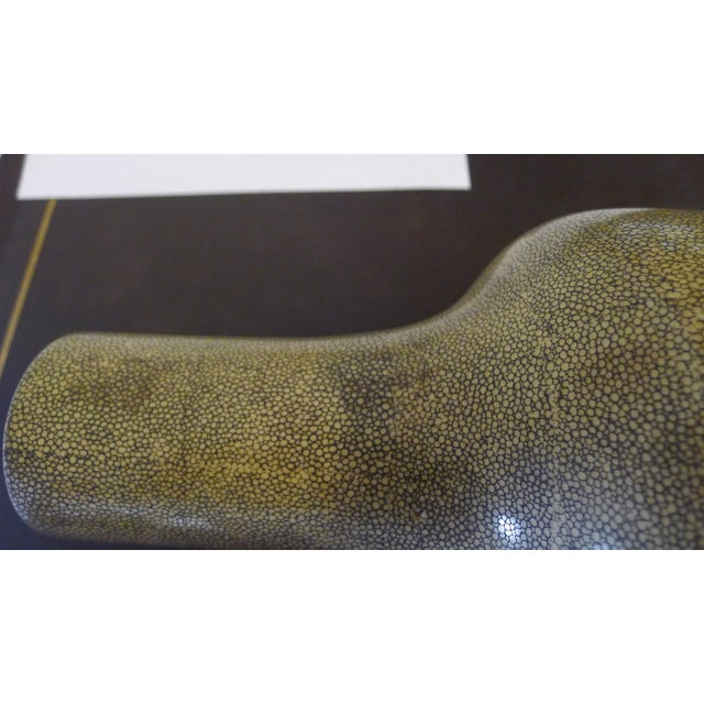 Ceramic Shagreen Texture Modern Chinese Vase For Sale - Image 7 of 10