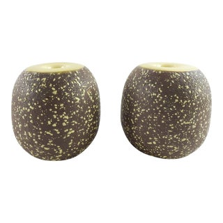 Mid Century DeMaray California Pottery Candle Holders - a Pair For Sale