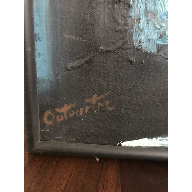 Mid-Century Modern Vintage Mid-Century Modern Abstract Oil Painting Signed For Sale - Image 3 of 11