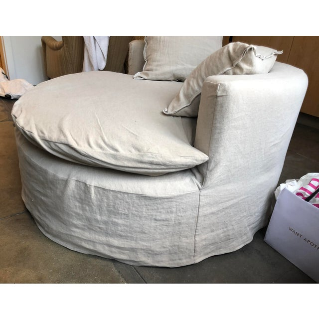 Custom Made Round Love Seat For Sale In New York - Image 6 of 8