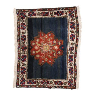 Vintage Persian Tabriz Accent Rug with Traditional Style, Small Persian Rug