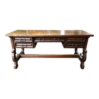 Hand Crafted South American Wooden Writing Desk