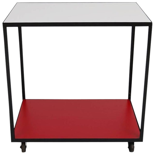 George Nelson Steel Frame Rolling Cart For Sale