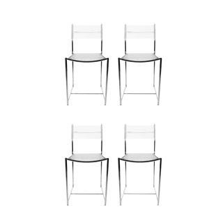 1970s Vintage Giandomenico Belotti for Alias Spaghetti Chairs- Set of 4 For Sale