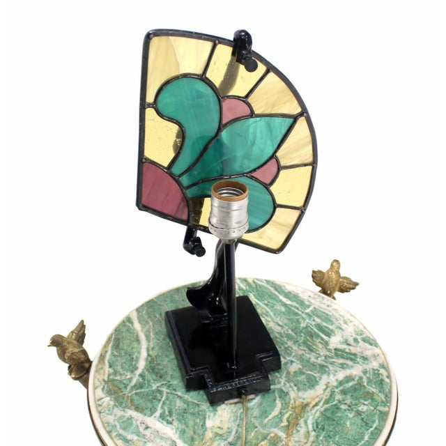 Art Deco Art Deco Nouveau Style Nude Stained Glass Table Lamp For Sale - Image 3 of 8