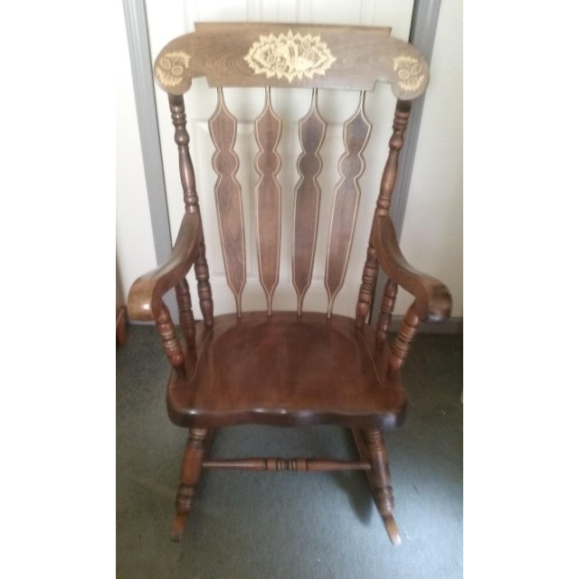 Mid 19th Century Vintage Yugoslavian Rocking Chair For Sale - Image 11 of 11