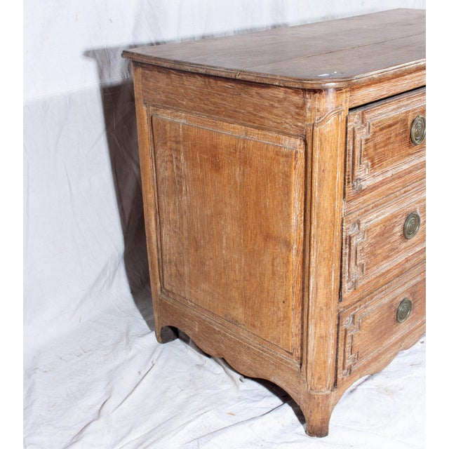 Late 18th Century 18th Century French Distressed Finish Three-Drawer Commode For Sale - Image 5 of 13