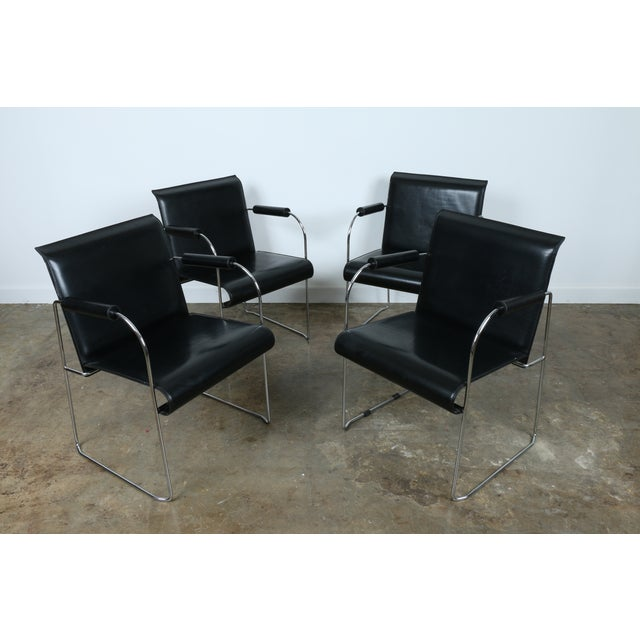 Arrben Italy Arm Chairs - Set of 4 - Image 2 of 11