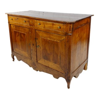 18th Century Inlaid French Fruitwood Buffet W/Lone Star in Front For Sale