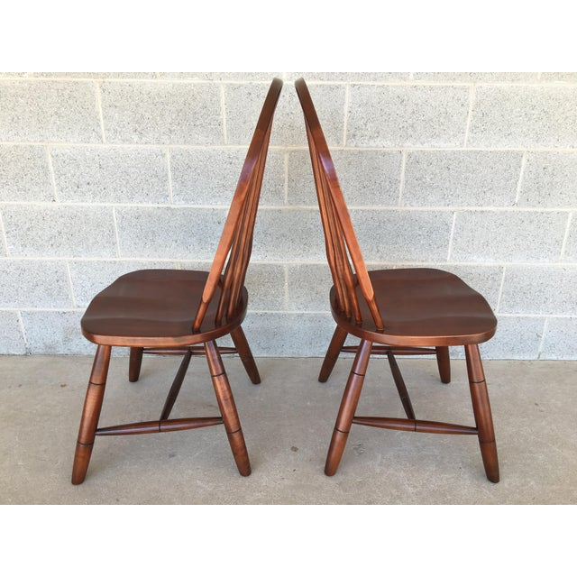 Ethan Allen Modern Ethan Allen New Country Hoop Back Gilbert Side Chairs- A Pair For Sale - Image 4 of 12