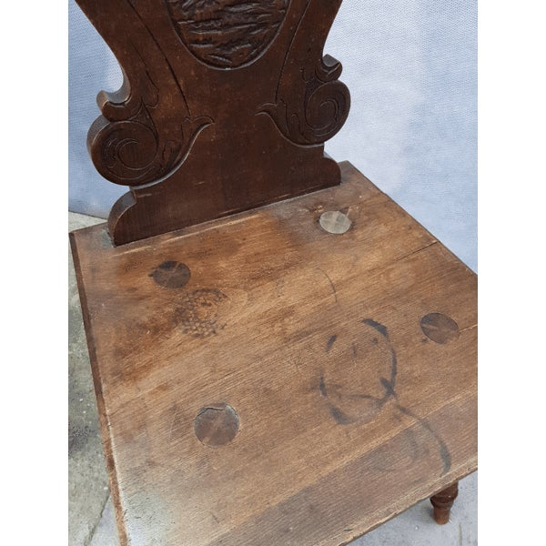 Charming Very Cute Alpine Chalet Style French Alps Rustic Side Chairs For Sale - Image 9 of 13