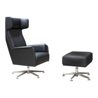 Dietiker Chair and Ottoman For Sale