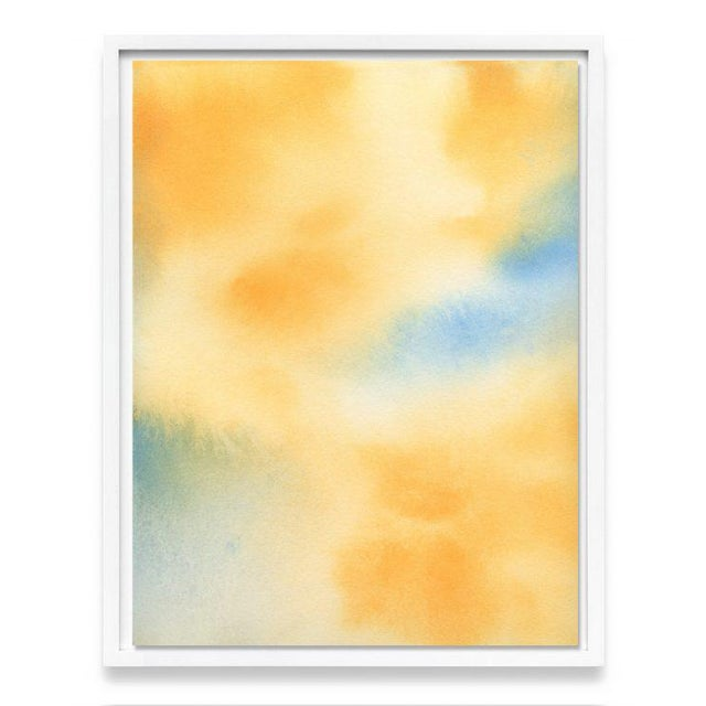 """Contemporary """"Untitled (Yellow Abstract)"""" Unframed Print For Sale - Image 3 of 4"""
