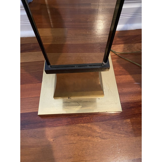 Vintage Art Deco Hollywood Regency Torchiere Floor Lamp For Sale In Chicago - Image 6 of 7