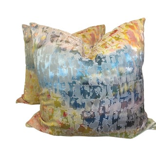 "Impressionistic 22"" Pillows-A Pair For Sale"